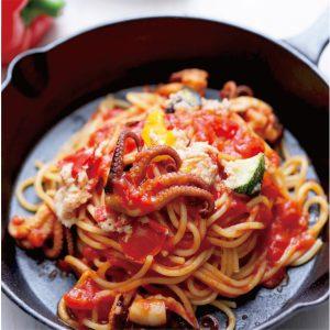 イイダコと彩り野菜のトマトソースを発売開始致します。